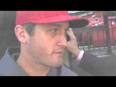 David Freese's back is up against the wall- talking about game 2 coming up today!! 10-08-12