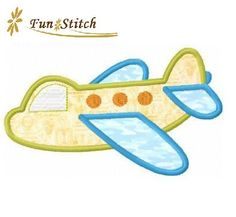 airplane+plane+applique+machine+embroidery+design+by+FunStitch,+$2.00