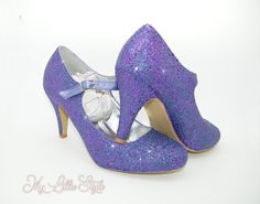 Cadbury purple glitter Low Mid Mary Jane heels Bridal Bride Wedding Bridesmaid Junior Bridesmaid Party Mother of the bride Mothers Day gift Bling Heels, Mary Jane Heels, Purple Glitter, Wedding Bridesmaids, Mother Of The Bride, Mary Janes, Mothers, Bridal, Trending Outfits