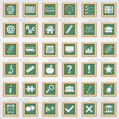 Education Icons - Web Elements Vectors