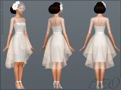 sims wedding dress clothes