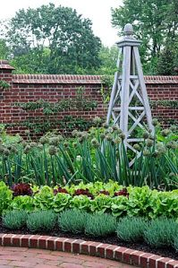 FORMAL VEGETABLE GARDEN WITH STRUCTURE