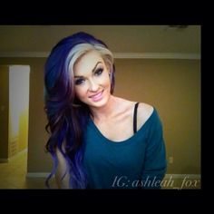 <3 love her hair and would more than likely do this one day