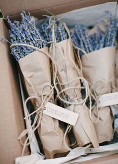dried lavender packs for the guests