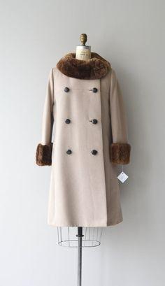 Preston Station coat vintage 1960s coat fur collar by DearGolden