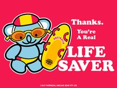 Thanks, Life Saver | Smiling Bear®  free ecard cute kawaii