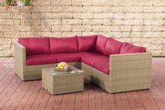 Hochwertig CLP Poly Rattan Lounge Set GENERO 5mm L Garten Set Mit 5 Sitzplätzen