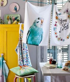 fun tea towels \ H&M Home Spring 2015