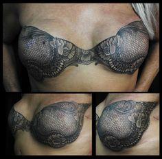 Beautiful Mastectomy Scar Tattoo