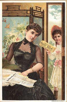 Root Beer Trade Card - vintage ephemera