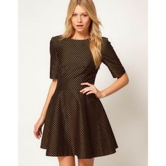 Ted Baker Spot Jacquard Dress ($262) ❤ liked on Polyvore