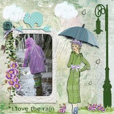 Anntaurus Designs 'Rain, Rain' Digital Scrapbook Kit