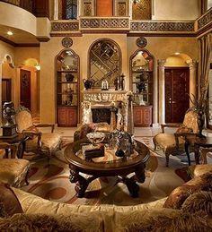 50+ Mediterranean Living Room Decor Interior Design_3
