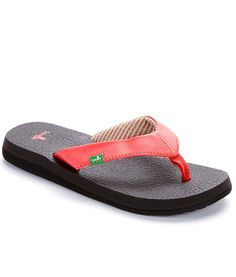 bfd254865 Sanuk Women s Yoga Mat Ebony Fashion Flip Flops Sandals Shoes Sz  9  gt  gt