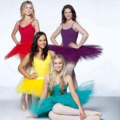 Issi Durant (Grace Whitney), Dena Kaplan (Abigail Armstrong), Alicia Banit (Kat Karamakov), and Xenia Goodwin (Tara Webster) -Dance Academy