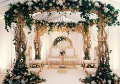 From pastel, floral inspirations to floating mandaps on water bodies, petal-filled setups to bright red, conventional marriage vedis, here are 10 mandap decoration ideas that are on fire. Browse through these plus some honourable mentions. Wedding Ceremony Ideas, Desi Wedding Decor, Destination Wedding Decor, Wedding Hall Decorations, Wedding Mandap, Tamil Wedding, Wedding Receptions, Wedding Planner, Engagement Stage Decoration