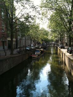 canal in Amsterdam. photograph by Randomitus.