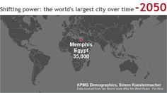 "In 2050 B.C., Memphis, Egypt, held the title of biggest ""city"" in the world, with some 35,000 people calling the outpost at the mouth of the Nile Delta home. Fast forward 4,000 years and Delhi, India, is expected to take the crown."