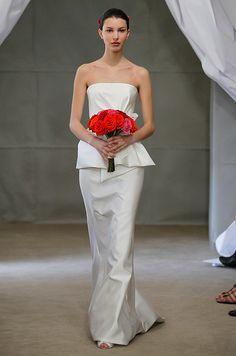 Carolina Herrera wedding dress with peplum, Spring 2013