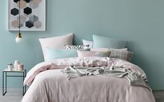 Home Republic Vintage Washed Linen Current - Bedroom Quilt Covers & Coverlets - Adairs online Bed Sheets Online, Cheap Bed Sheets, Home Bedroom, Bedroom Decor, Master Bedroom, Home Interior, Interior Design, California Bedroom, Home Republic