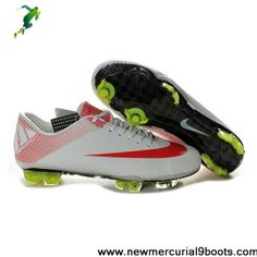 CR Nike Mercurial Vapor Superfly III FG in White Red