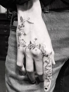 Floral hand piece by Dr. Woo