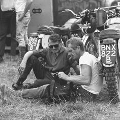 The Motorcycle And Steve McQueen