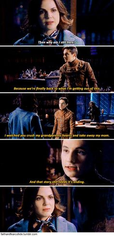 "Once Upon A Time3 days @weareouat ""Henry! Where'd they go?"" - ""I reunited Henry and the others with his family. Bound to be quite the reunion"" ""Then why am I still here?"" - ""Because we're finally back to what I'm getting out of this..."" #OnceUponATime"