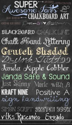 Free Fonts for Chalkboard Art