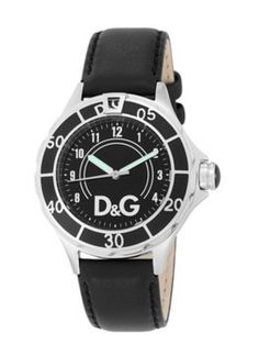 D&G DW0509 Anchor Black Dial Black Leather Strap Watch #DolceandGabbana #menswatch #watch #fashionwatch #dolce #gabbana