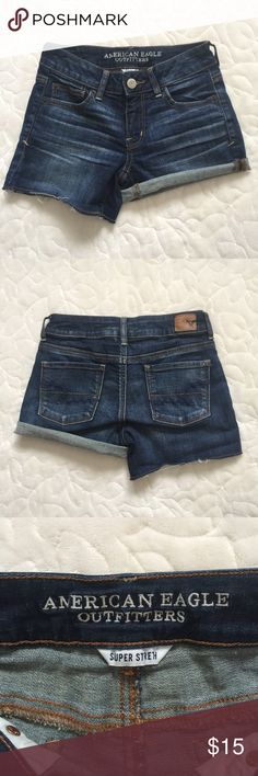 AEO shorts Size 0 Perfect condition, worn twice. Too small for me after pregnancy. American Eagle Outfitters Shorts Jean Shorts