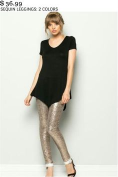 SEQUIN LEGGINGS: 2 COLORS $ 36.99 Note: Hand wash cold, do not bleach, line dry