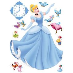 Let your inner child surface. Deixe sua criança interior vir à tona. Cinderella Disney, Cinderella Cupcakes, Wall Sticker, Wall Decals, Enchanted, Princess Cake Toppers, Princess Bedrooms, Film D'animation, Anime Love Couple
