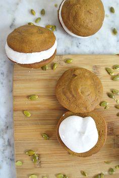 Marshmallow Fluff-Filled Pumpkin Whoopie Pies