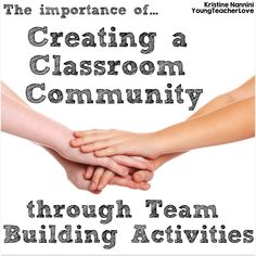 First days of school-team building activities . The Importance of Creating a Classroom Community: Back to School Tips and Tricks with Team Building Ideas- Young Teacher Love by Kristine Nannini Classroom Procedures, School Classroom, Classroom Management, Classroom Ideas, Behavior Management, Management Tips, Classroom Resources, Kindergarten Classroom, School Teacher