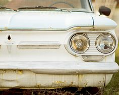 Dreamy Vintage Car Photograph-8x10-Rustic Home Decor-Modern Fine Art-light blue, blue, gold-Boho Chic-Kimberly Blok Photography-Father's Day. $25.00, via Etsy.