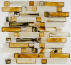 Stained Glass Mosaic Tile Amber Mixed | Mineral Tiles