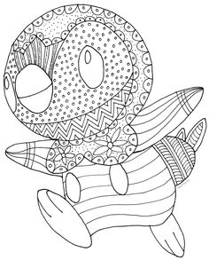 Pokemon Piplup Free Coloring Page By MaPantz