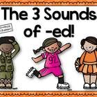 3 Sounds of -ed Posters