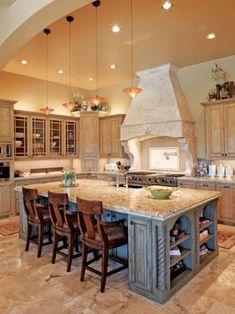 Tuscany style italian kitchen design ideas 16