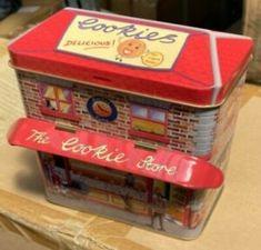 Silver Crane Company Money Cookie Store Sweets Storage Tin Birthday Christmas | eBay Box Houses, Crane, Tin, Sweets, Cookies, Money, Retro, Storage, Birthday