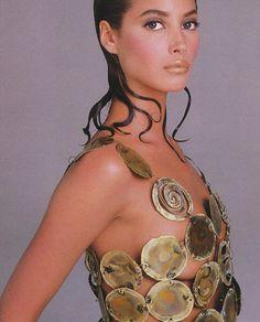 Christy Turlington by Francesco Scavullo- Harper's Bazaar US October, 1987