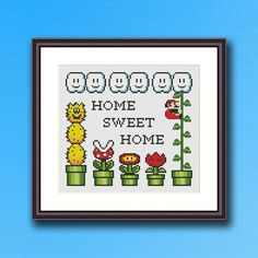 Super Mario Home Sweet Home Cross Stitch Pattern | Craftsy