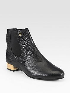 Tory Burch Adaire Pebbled Leather Ankle Boots...425.00 love