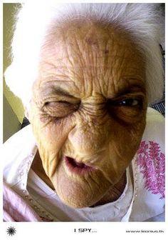 Old people ugly girl