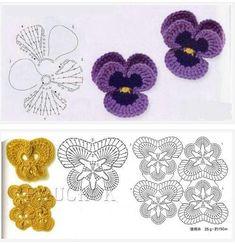 Ideas crochet headband diy tutorials yarns for 2019 Marque-pages Au Crochet, Crochet Motifs, Crochet Flower Patterns, Flower Applique, Crochet Flowers, Crochet Stitches, Irish Crochet Charts, Freeform Crochet, Crochet Bookmarks