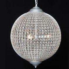 large white globe chandelier