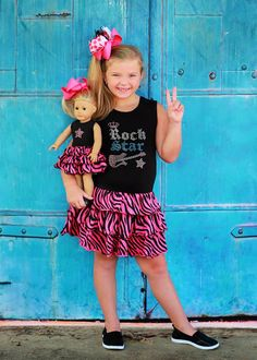 d43e402905a Rock Star Birthday Zebra Print Doll Dress Set