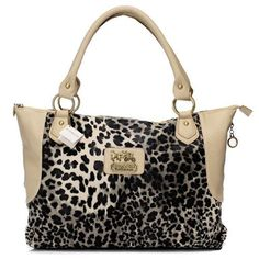 Look Here! Coach Leopard Fur Large Ivory Totes BAK Outlet Online All New Designer Handbags, Bags, and Purses from Coach