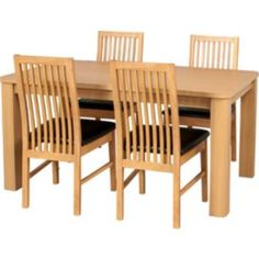 Buy Swanley Oak Dining Table & 4 Chocolate Paris Chairs at Argos.co.uk - Your Online Shop for Dining sets.